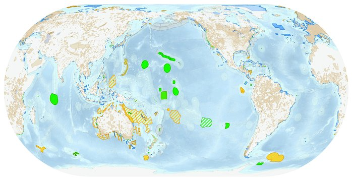Current marine and terrestrial protected area coverage as of May 2015.